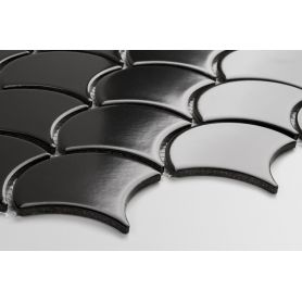 Flabellum Black, mat - płytki ceramiczne