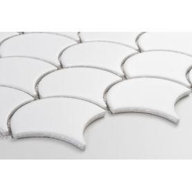 Flabellum White, mat - mozaika ceramiczna