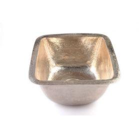 Tolteca - umywalka miedziana niklowana