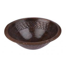 Fidelia - okrągła miedziana umywalka z Meksyku