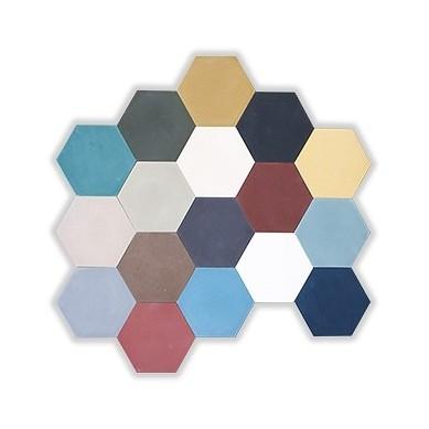 Płytki cementowe heksagonalne